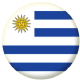 Uruguay Country Flag 58mm Mirror